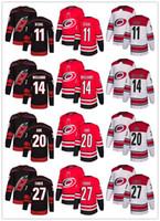 nhl, nakliye formatı yapıyor toptan satış-Ucuz Erkek Kadın Gençlik Dikişli NHL Jersey Carolina Hurricanes Siyah Alternatif Kırmızı Ev Beyaz Yol Ücretsiz Kargo Buz Hokeyi Jersey
