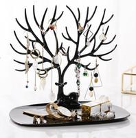 kolyeler için mücevherat vitrin tepsileri toptan satış-25 * 15 * 23 cm Plastik takı ekran Küçük Geyik Küpe Kolye Yüzük Kolye Bilezik Takı Ekran Standı Tepsi Ağacı depolama