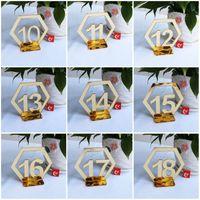 sostenedores de la muestra de la tabla al por mayor-Creativa del 1 al 30 Tarjetas de estar Espejo acrílico Place titular del número de la superficie de la señal Suministros Fit bodas banquetes Partes 2 8XT E1