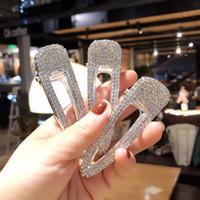 ingrosso bobby flash-Crystal Diamond Clip di capelli Ragazza Waterdrop Forma Bobby Pin Super Flash Hairpin Moda Silvery Golden Hot Sales 3 8xy C1