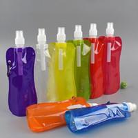 yumuşak su poşetleri toptan satış-Taşınabilir su torbası katlanabilir yumuşak şişe su torbası kamp yürüyüş açık hava spor malzemeleri katlanabilir su torbası şişe çanta ultralight