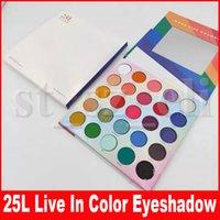 ingrosso palette colorate di trucco-Eye Makeup 25L Palette ombretto Live In Color Matte Make Life Colorful 25 Palette per ombretti Color Matte Ombretti brillanti