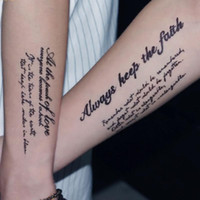 tatuajes falsos sexy al por mayor-Sexy Fake One-off Tattoo Sticker para la manga del brazo Hombres y mujeres Fake Tatoo Body Art Impermeable Tatuajes temporales Stickers @ SH190729