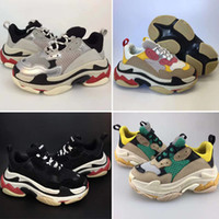 Wholesale autumn s shoes resale online - New Kids Children Triple S Baby Luxury Designer shoes Speed High Quality Boy Girl Tess Gomma Maille Black Running Athletic Shoes Eur28