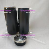 bouteilles d'eau de mode achat en gros de-Marque de modeCups gobelets en acier inoxydable Bouteille d'eau de paille avec isolant sous vide pour sports