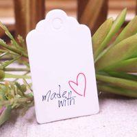 çeşitli hediye toptan satış-100 adet düğün etiketi ile yapılan 5 * 3 cm çeşitli stilleri hediye lables kalp desen güzel kırmızı kalp evli iyilik etiket