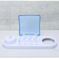 tipos de pasta de dientes al por mayor-titular de cepillo de dientes eléctrico giratorio para caja de almacenamiento de la cabeza de cepillo de dientes Oral-B compatible con Oral-b base del cargador