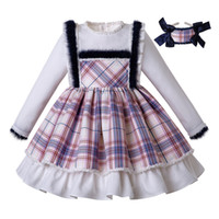 Wholesale fall girl clothes for sale - Group buy Pettigirl New Arrival Plaid Baby Girl Dresses With Headwear Fluffy Dress Girls for Party and Wedding Fall Kids Clothing G DMGD206