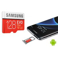 samsung tarjeta de 256 gb al por mayor-Tarjeta EVO Plus + C10 Flash negra de 64 gb 128 gb 256 gb Tarjeta de memoria Tarjeta micro SD con paquete de blister para Samsung cámara