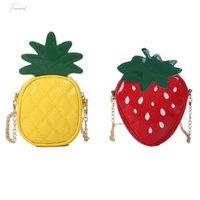 Wholesale cute satchel handbags for sale - Group buy Fruit Bag Cute Pineapple Strawberry Shape Shoulder Mini Crossbody Bag For Women Satchel Purse Handbag D