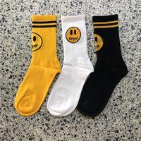 homens de roupa interior preta amarela venda por atacado-Moda chamou casa meias de algodão Roupa interior Meias Unisex Homens Mulheres Preto Amarelo Meias Designer Hip Hop