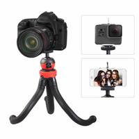 büyük kamera cepleri toptan satış-Cep telefonu büyük ahtapot tripod Bluetooth zamanlayıcı kamera seti Bluetooth uzaktan kumanda esnek iPON için esnek sünger kamera tripod canlı braketi