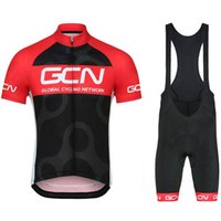 Wholesale red black bike jersey for sale - GCN Summer cycling jersey sets mens pro team cycling clothing short sleeve Bike kits cycling bib shorts pants d pad sports suit Y