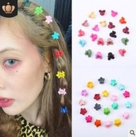 Wholesale jaw claw hair clips for sale - Group buy 1200pcs Diy Multi Resin Jaw Clip Mix Styles Cartoon Flowers Hair Clips Claws Hair Care Styling Accessories Tools Ha608