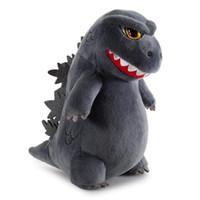 bayan beyna peluş oyuncak bebek toptan satış-Çocuklar Peluş Oyuncak Moda Kidrobot Godzilla Phunny Peluş Oyuncak Parti Doğum Hediye Oyuncak