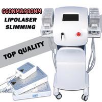 ingrosso migliori cellulite-2019 Best Lipo Laser dimagrante per cellulite Laser Slim Lipo Lipolysis Machine lipoLaser doppia lunghezza d'onda 650nm 980nm