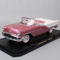 Wholesale roadsters cars resale online - 1 scale Road Signature GM Olds mobile Super88 roadster classics coupe cars Diecasts Toys Vehicles car models