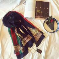 dama de seda caliente al por mayor-Diseñador de gama alta de lujo bufanda de seda señoras de moda primavera y verano nueva impresa larga bufanda 2019 venta caliente