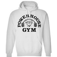 logotipo de academia unisex venda por atacado-New Powerhouse GYM Logo Unisex das mulheres dos homens de Inverno hoodies camisolas frete grátis