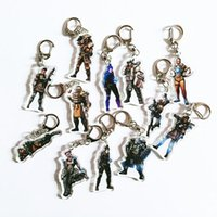 Wholesale white gold keychain for sale - Group buy APEX Heroes Big Escape Shooting Acrylic Character Keychain Peripheral Game Dolls V085