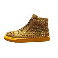 new product 4c418 f8f3c Style européen et américain, chaussures pour hommes du top board, chaussures  à rivets de personnalité, chaussures casual hip-hop