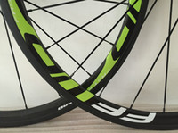 ruedas de bicicleta de fibra de carbono de 38 mm. al por mayor-súper ligero de la rueda de ajuste 11s FFWD 38mm ruedas verdes ruedas de bicicleta tubulares camino de la fibra de carbono juego de ruedas