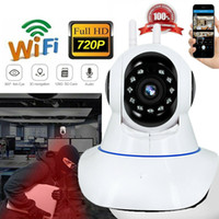 açık hd kablosuz ağ kameraları toptan satış-WIFI 1080 P ONVIF P2P Açık Kablosuz IR Cut Güvenlik IP Kamera HD Gece Görüş