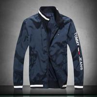 terno à prova de vento do exército venda por atacado-Mens jaqueta de grife outono inverno casaco blusão marca casaco com zíper nova moda casaco ao ar livre jaquetas de esporte plus size roupas masculinas