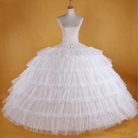hochzeit petticoats elfenbein großhandel-Kostenloser Versand Weiß Petticoats Für BallkleidWedding Mit Puffy Slip Unterrock Formales Kleid