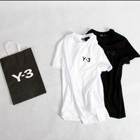 ingrosso magliette arancioni-Maglietta a maniche corte T-shirt nera con maniche corte Y-shirt da uomo a maniche corte KANYE WEST