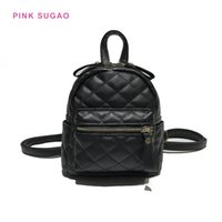 Wholesale travel backpack leather women resale online - Pink sugao new fashion backpack designer backpacks BRW women shoulder bag small travel bag wild new styles pu leather colors backpack