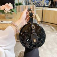 cannes schwarzes kleid groihandel-New Boite Chapeau Souple Frauen Mini Designer diagonaler Runde Handtaschen Rivoli Black Leather Female Fashion Cannes Handles-Kette Kleid Totes