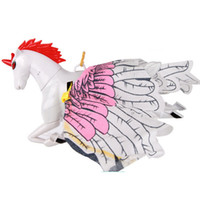 kızlar için popüler oyuncaklar toptan satış-Unicorn Çocuk Oyuncak Kız Elektrikli Askıya Hattı Modeli Plastik Pembe Beyaz Oyuncaklar Moda Popüler Yeni Sıcak Satış 4wg D1