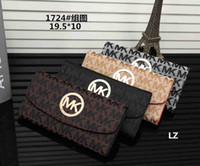 Wholesale womens luxury fashion purses online - New Arrival Womens Luxury Wallets High end PU Leather Skull Adornment Card Holders Design Long Purses handbags