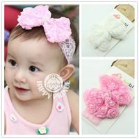 Wholesale handmade infant headbands for sale - Group buy Baby Headband Bowknot Handmade DIY Toddler Infant Kids Hair Accessories Girl Newborn Bows Lace Chiffon Pearl Turban