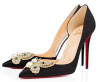 Wholesale nude high heel platform for sale - Group buy Christian Red Bottom Louboutin CL High Heels cm heels Platform Pumps Nude Black Patent Leather Peep toe Women Dress Sandals Shoes q8