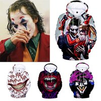 Wholesale joker clothes for sale - Group buy Pennywise D HAHA Joker Hoodies Sweatshirt Men and Women Pullover Hoodie Sudadera Hombre Casual Brand Streetwear Jacket Clothes