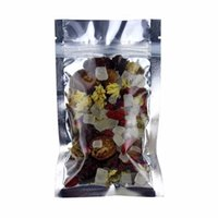 Wholesale front zip bag resale online - 12 cm recloseable clear and silver zip lock package bag translucent on front moisture proof food package bag storage mylar pouch