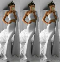 Wholesale one piece water pipe resale online - Cheap Silver One Shoulder Two Piece Long Sleeve Arabic Prom Dresses Long Formal Party Gowns Vestidos De Fiesta ogstuff Abendkleider