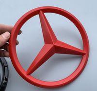 emblèmes chromés achat en gros de-Livraison gratuite! Style de voiture 3D ABS Chrome Avant de la voiture Logo emblème Badge autocollants Pour Mercedes Benz Auto Autocollants Accessoires