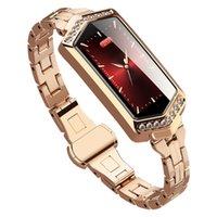 beste wasserdichte fitness-uhren großhandel-Smart Armbanduhr Fitness Armband Wasserdicht HeartRate Tracker Monitor Blutdruck Sauerstoff Smartwatch Band Bestes Geschenk für Frauen