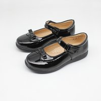 Wholesale shoes size 37 resale online - Girls School Shoes New Kids Formal Party Evening Black Back To School Shoes Hoop Loop Fastening Bar Formal Size T200507