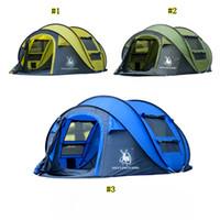 tenda de acampamento grande ao ar livre venda por atacado-Hui Lingyang Tenda de Lançamento Ao Ar Livre Tendas Automáticas Jogando Pop Up À Prova D 'Água Camping Barraca de Caminhada À Prova D' Água Grande Barracas Família MMA2131