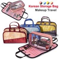 koreanische make-up pinsel großhandel-Neue koreanische Make-up Tasche Organizer Lagerung Kosmetiktaschen Unterwäsche Kulturbeutel große Kapazität Reise Kulturbeutel Wasserdichte Make-up Pinsel Taschen