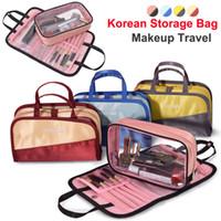escovas de maquiagem coreano venda por atacado-Nova Coreano bolsa de maquiagem Organizador De Armazenamento Sacos de Cosméticos cueca saco de Lavagem de grande capacidade de Viagem bolsa de higiene bolsa de Maquiagem À Prova D 'Água escova de Sacos