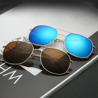 Wholesale sunglasses film for sale - Group buy New brand sunglasses fashion metal trend sunglasses ladies casual color film glasses colors