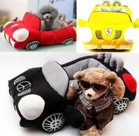 casas de perro gratis al por mayor-En forma de coche Pet Cushion Dog Bed Casa Cama Gato Cama Cojín Kennel Pens Doggy Puppy Sofá Saco de dormir Envío Gratis Caliente