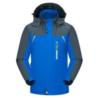 Wholesale black skate hoodie online - Plus Size Ski Jacket Windproof Ski Suit Snowboard Winter Jacket Men Waterproof Outdoor Climbing Hiking Jacket Hoodie Sportswear
