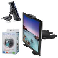 ingrosso slot per compresse-CD Slot Car Mount Supporto lettore CD universale per auto per iPhone Samsung Smartphone per iPad Galaxy Tab Tablet da 4-12 pollici