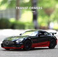 minyatür ölçek toptan satış-1:32 Benz Amg Gtr Metal Alaşım Diecasts Araçlar Minyatür Ölçekli Model Araba Oyuncak Çocuklar Için J190525